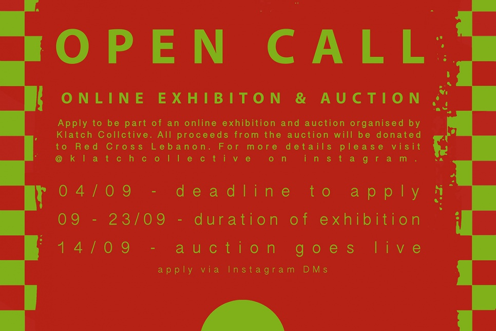 Poster showing online exhibition details