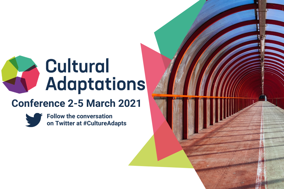 Cultural Adaptations logo with image of a tunnel walkway