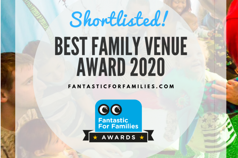 Poster showing the title Best Family Venue Award 2020