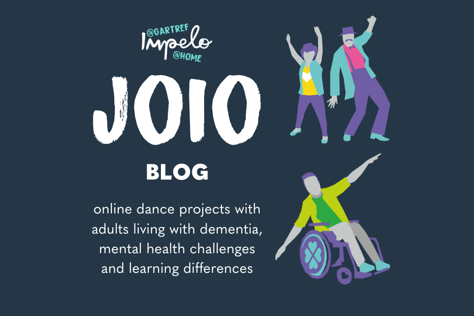 Joio Blog with illustrations of people dancing